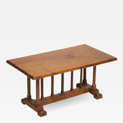 English Miniature Arts and Crafts Trestle Table