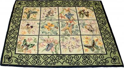 English Needlepoint Rug c 1900