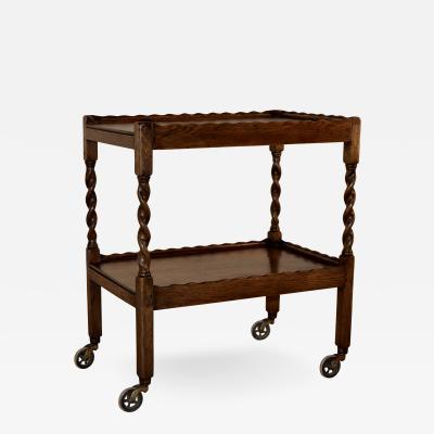English Oak Drinks Cart c 1900