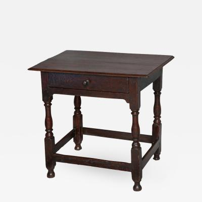 English Oak Early 18th Century Side Table
