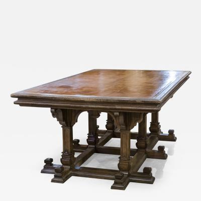 English Oak Library Table