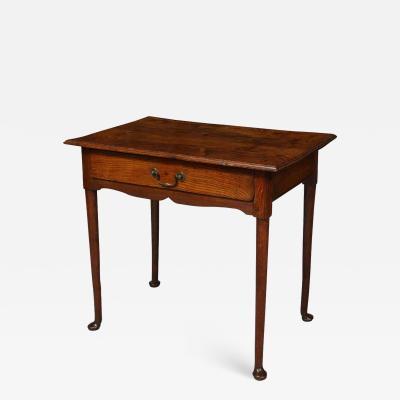 English Oak Pad Foot Table
