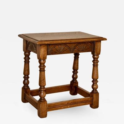 English Oak Stool c 1900