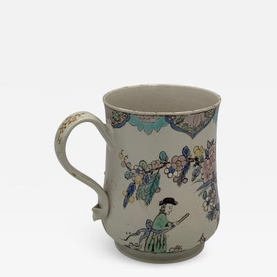 English Polychrome Saltglaze Mug