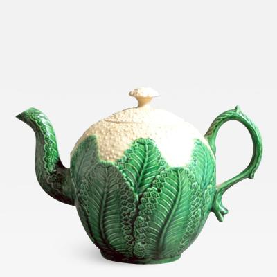 English Pottery Creamware Cauliflower Teapot Cover