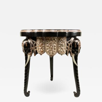 English Regency Black Lacquered Elephant Side Table