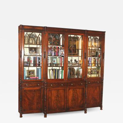 English Regency Breakfront Bookcase