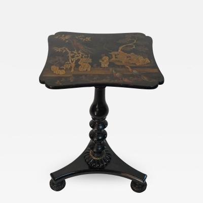 English Regency Chinoiserie Stand or Occasional Table Mario Buatta