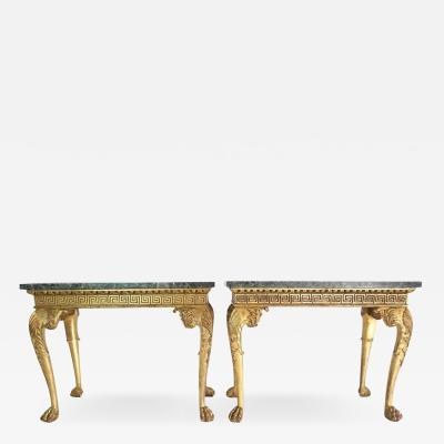 English Regency Giltwood Side Tables in the Manner of William Kent