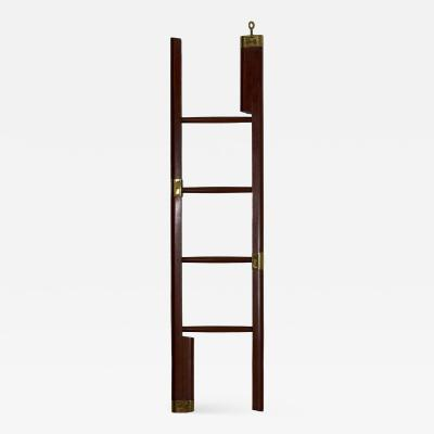English Regency Mahogany Antique Library Ladder circa 19th century