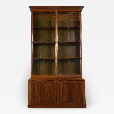 English Regency Mahogany Wood Bookcase