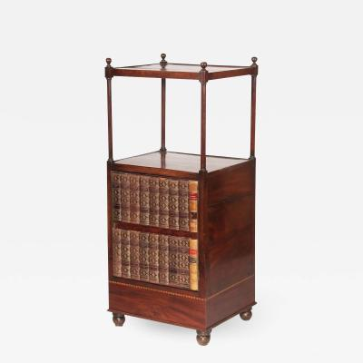 English Regency Mahogany tag re or Library Stand