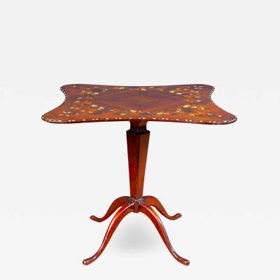 English Regency Marquetry Inlaid Center Table or Occasional Table 1815
