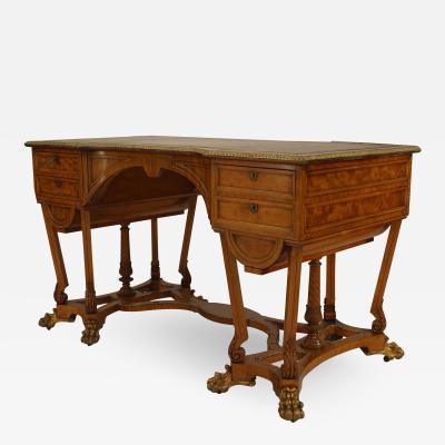 English Regency Satinwood Desk