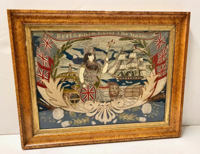 English Sailors woolwork Britannia Rules The Main