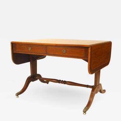 English Sheraton Mahogany Davenport Table