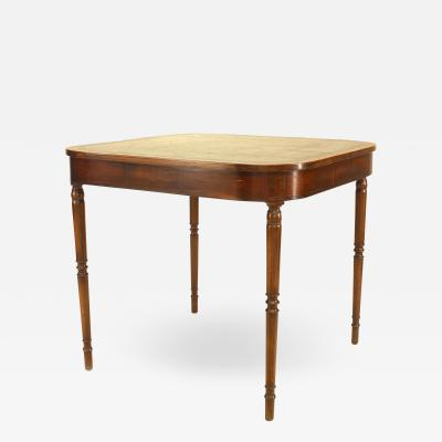 English Sheraton Mahogany Game Table