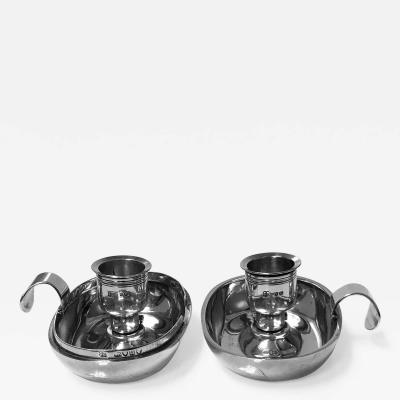 English Silver Collapsible Travelling Candlesticks London 1875 Wright and Davies