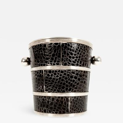 English Silver Plated Barware Crocodile Wine Cooler or Ice Bucket