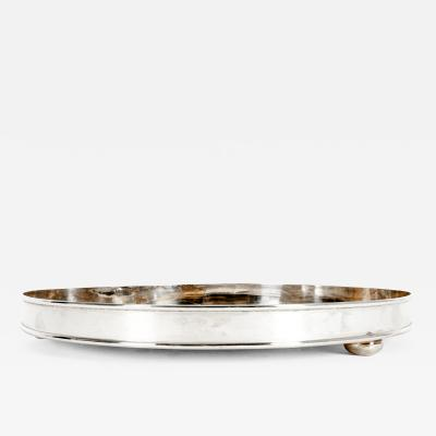 English Silver Plated Tortoiseshell Interior Barware Serving Tray