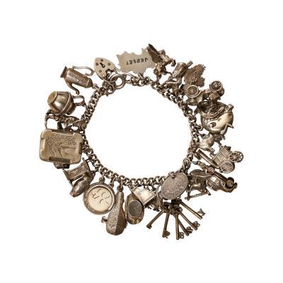 English Sterling Charm Bracelet