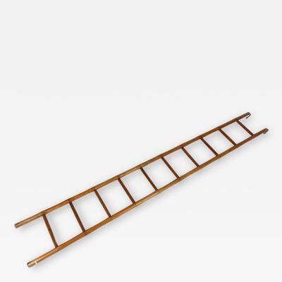 English Victorian Period Faux Bamboo Ladder Circa 1890