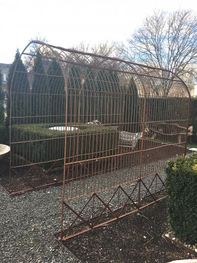 English Victorian Wrought Iron Rose Tunnel Pair of Arbors