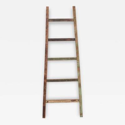 English Vintage Painted Farm Ladder