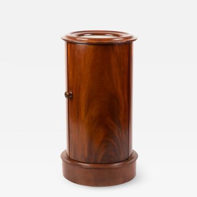 English William IV mahogany pillar commode