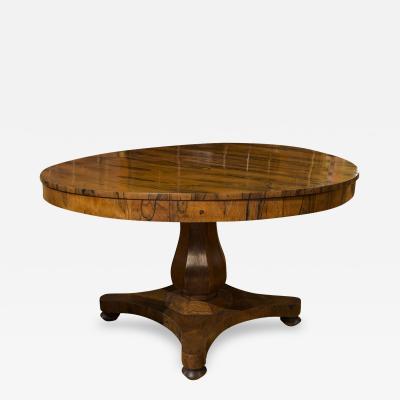 English Zebrawood Center Table