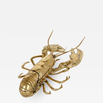 English brass inkwell in the form of a lobster