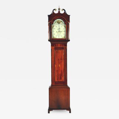 English mahogany tall clock