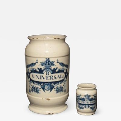 English tinglaze drug jars
