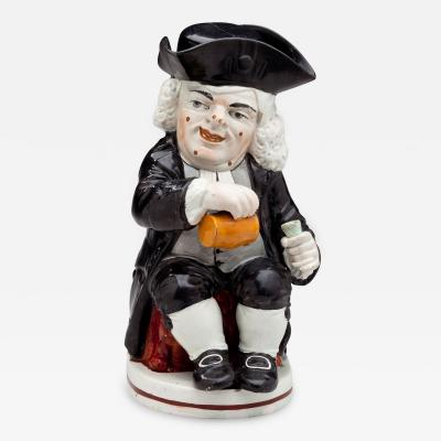 Enoch Wood Toby Jug of Dr Johnson with Cover