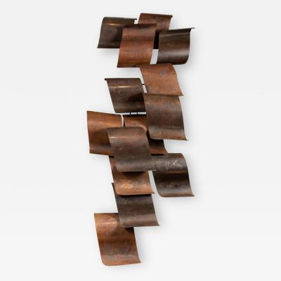 Enormous Vintage Abstract Wall Sculpture