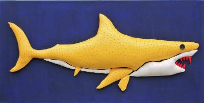 Enrico Cecotto Lemon Shark Unique Artwork by Enrico Cecotto