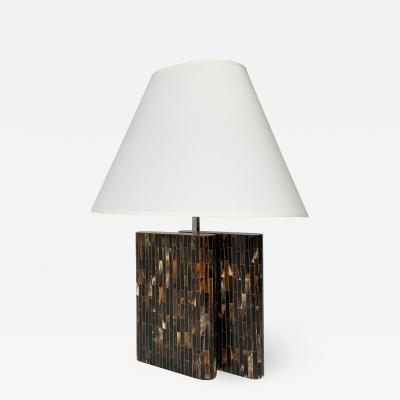 Enrique Garcel Enrique Garcel Tessellated Horn Table Lamp