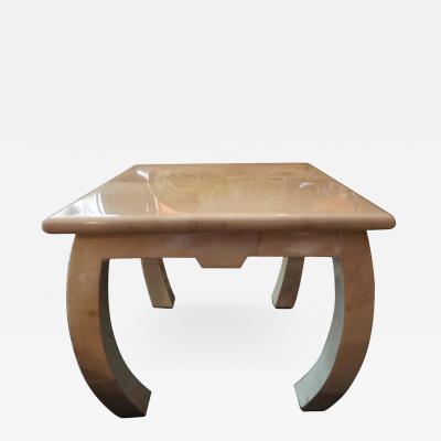 Enrique Garcel Fabulous Enrique Garcel Goatskin Asian Style Side End Table