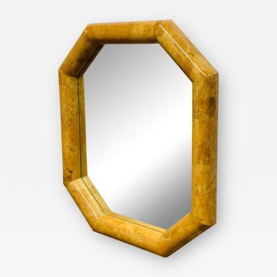 Enrique Garcel Horn Inlay Octagonal Mirror by Enrique Garcel
