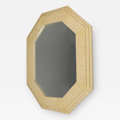 Enrique Garcel Octagonal Bone Framed Mirror by Enrique Garcel Colombia 1970s