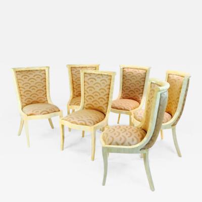 Enrique Garcel Set of Six Enrique Garcel Bone Dining Chairs