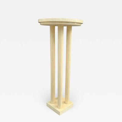 Enrique Garcel Tall Pedestal Table in Tessellated Bone Tile by Enrique Garcel for Jimeco