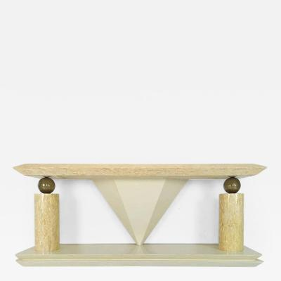 Enrique Garcel Tessellated Bone Antler Console Table in the Style of Enrique Garcel