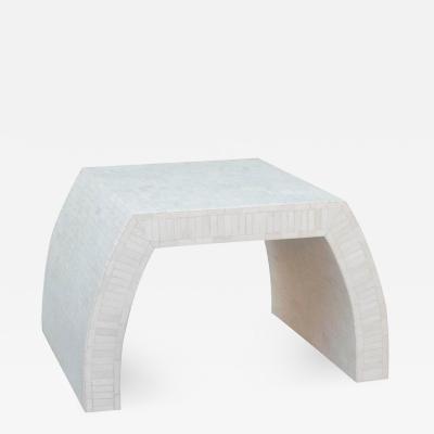 Enrique Garcel Tessellated Bone Coffee or Side Table by Enrique Garcel