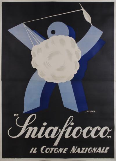 Enzo Feeney Montanari ON SALE Large Italian Futurist Period Poster by Araca circa 1933