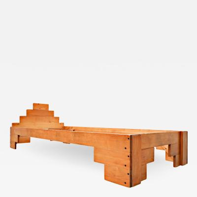 Enzo Mari Italian Wooden Bed By Enzo Mari 1970s