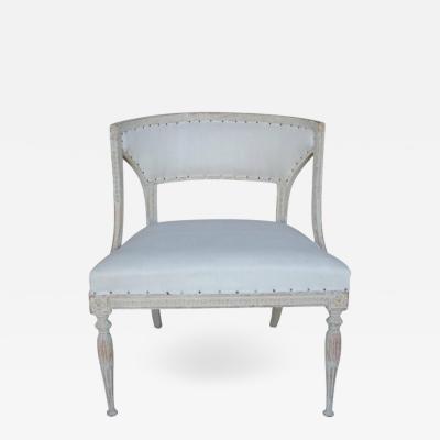 Ephraim Stahl 18th Century Swedish Gustavian Period Original Paint Chair Signed Ephraim Stahl