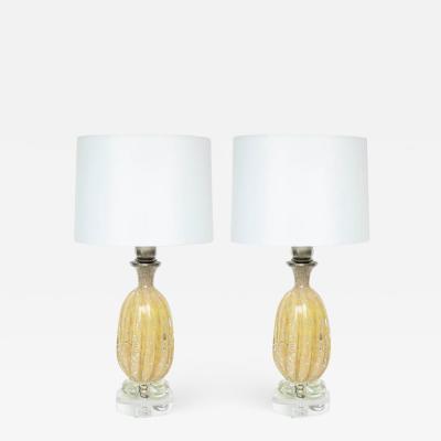 Ercole Barovier Barovier Gold Murano Glass Lamps