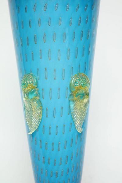 Ercole Barovier Barovier Tiffany Blue Murano Lamps