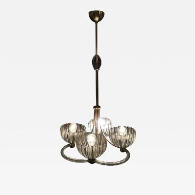 Ercole Barovier Charming Chandelier by Ercole Barovier 1940s